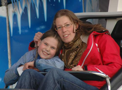 alma en s. in de sneeuwracebaan