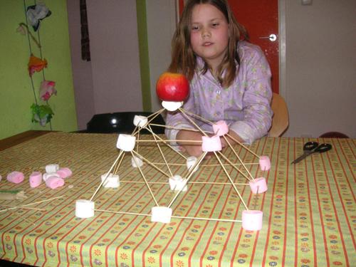 marshmallow piramide 2 lagen