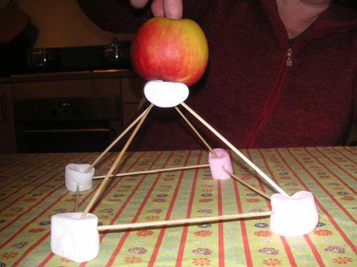 marshmallow piramide 1 laag